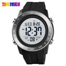 Skmei 1524 модные силиконовые спортивные часы с большим циферблатом