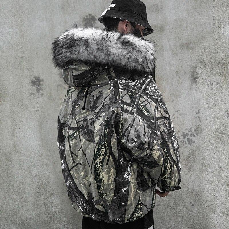 PYJTRL Streetwear Men Winter Thick Coats Outerwear