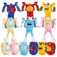 Новые технологии, детские наручные часы-трансформеры с роботом, игрушечные электронные часы, детские спортивные Мультяшные часы, детские р...