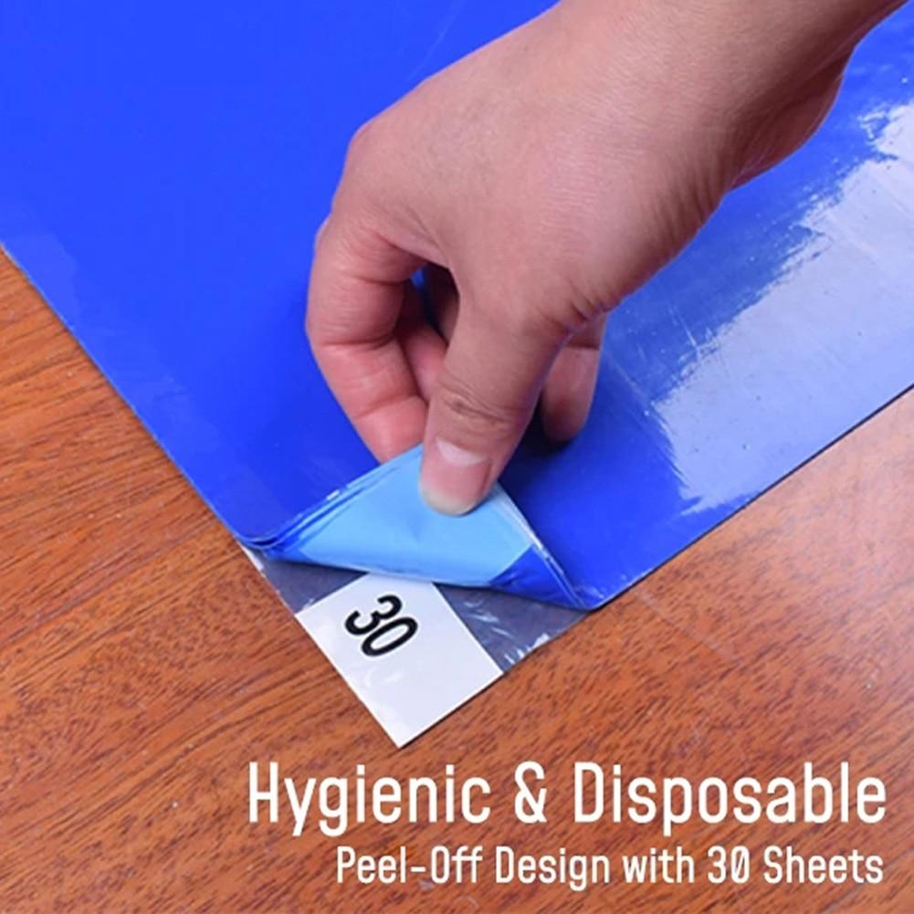 Spot 30Pcs Anti-dust Peel-off Mat Decontamination Hygienic Disposable Home Floor Mat Rug Best Price Dropshopping