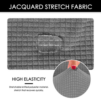 Water Resistant Jacquard Computer Chair Slipcover - Stretchable Computer Chair Cover 6 Chair And Sofa Covers