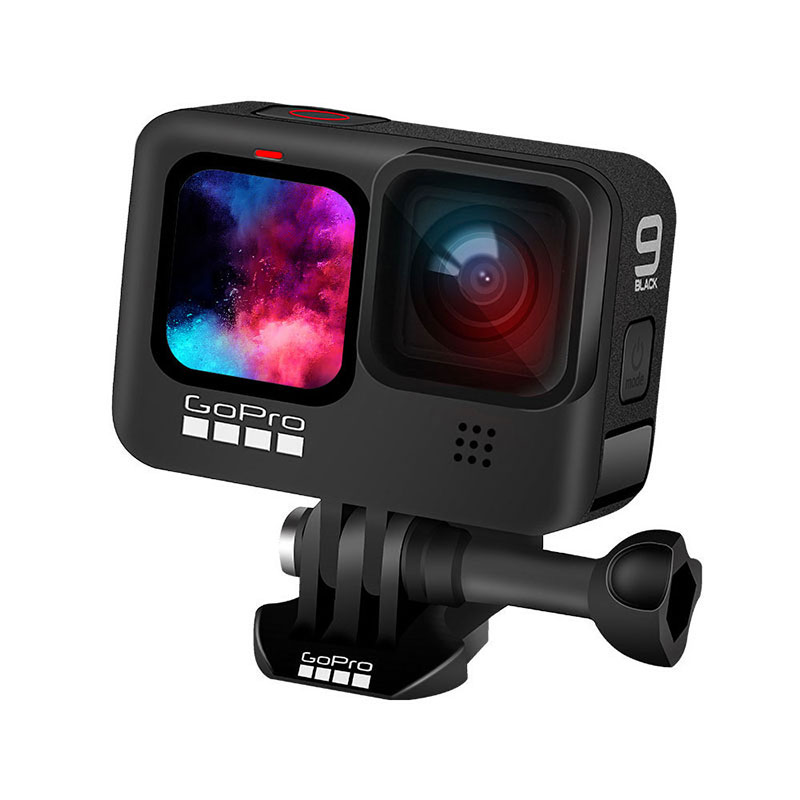 GoPro HERO 9 Black Underwater Action Camera 4K 5K with Color Front Screen, Sports Cam  20MP Photos, Live Streaming Go Pro HERO 9-1