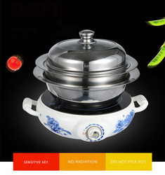 Electric Cooker Household Appliances Explosion-proof Multi-function Thick Stainless Steel Electric Ceramic Stove QW-2016