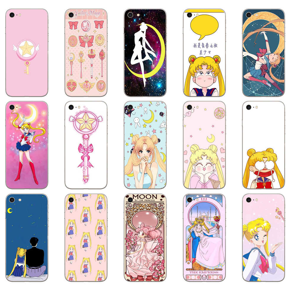 65DD Sailor Moon Mooie Meisje Soft Silicone Cover Case Voor Iphone 5 5S Se 6 6S 8 Plus 7 7 Plus X Xs Sr Max Case