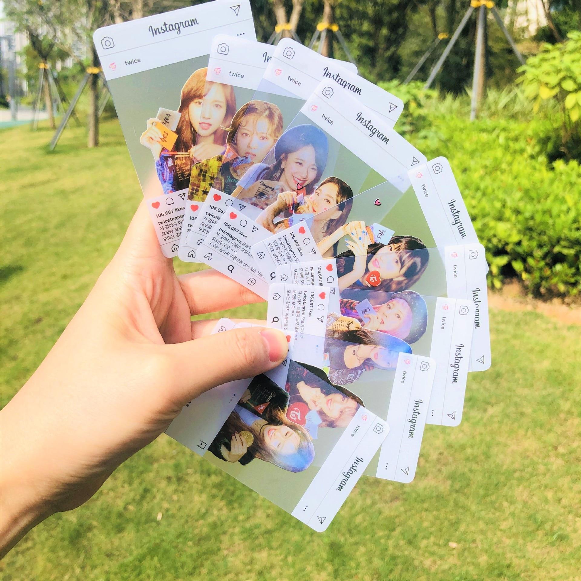 9pcs/set Kpop TWICE INS Transparent Photocard New Arrivals Good Quality Photo Card Twice Kpop Supplies Whloesale Price