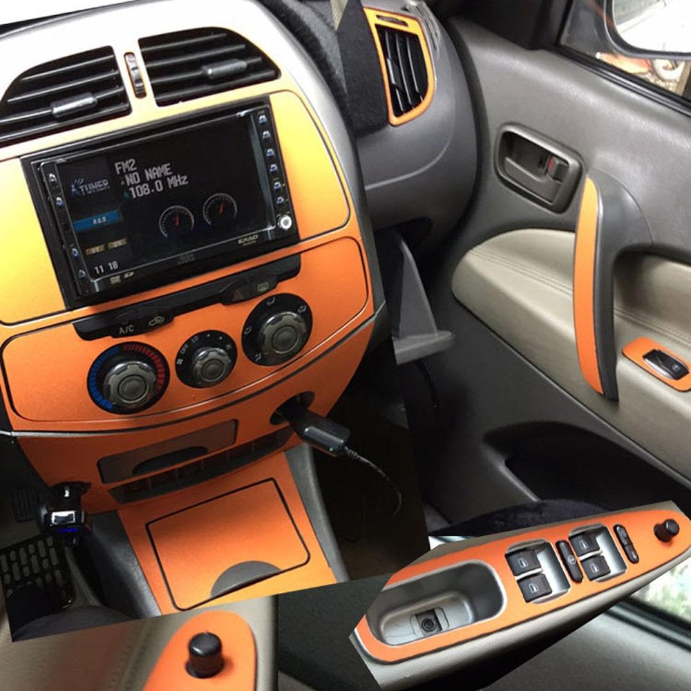 Car-Styling 3D/5D Carbon Fiber Car Interior Center Console Color Change Molding Sticker Decals For Chery Tiggo T11 2005-2009