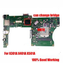 X501A Laptop ASUS for X301a/X401a/X501a X401a1/cpu HM76/HM70 Rev Main-Board