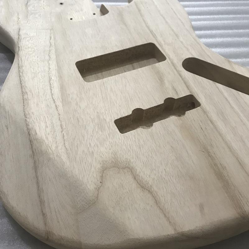 Image 3 - 未完エレキギター本体木材空白ギターバレル jb スタイルエレキギター diy パーツエレキギター   -