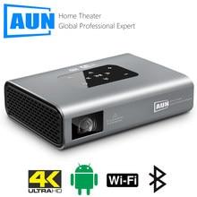 Проектор AUN X5 4K, Android, Wi-Fi, 3D, 10500 мА · ч, 300 дюйма, 1080P, DLP