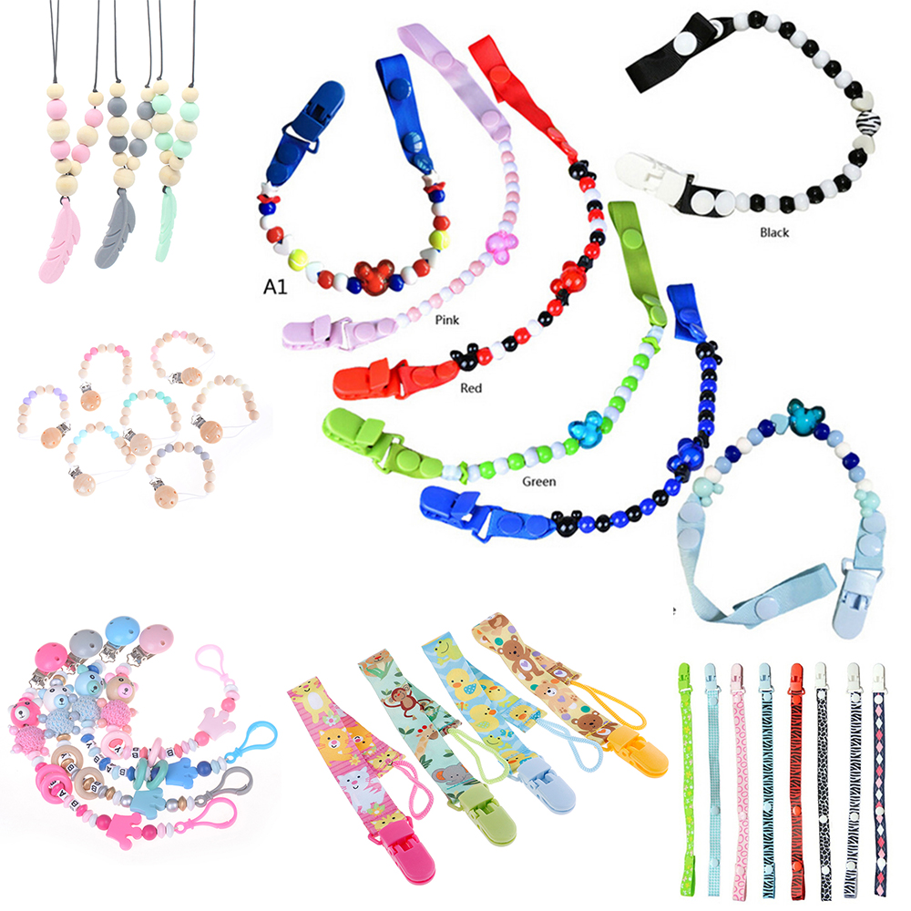 Anti-drop Rope Baby Pacifier Clip Pacifier Chain Dummy Clip Nipple Holder For Nipples Children Pacifier Clips Teether