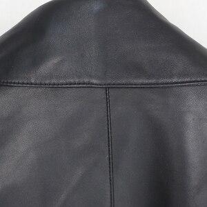 Image 5 - OFTBUY nouveau printemps en vrac en cuir véritable veste femmes 2020 mode noir réel en peau de mouton manteau moto motard vêtements de dessus pour femmes