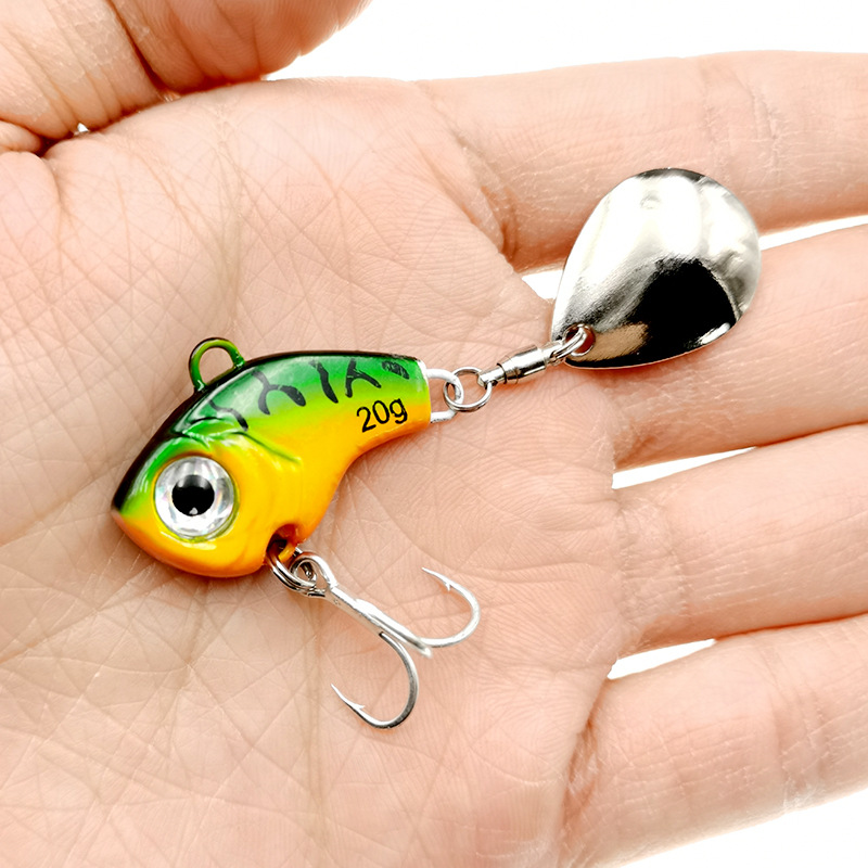 1Pcs Rotating Metal VIB vibration Bait Spinner Spoon Fishing Lures 5/10/15/20g Jigs Trout Winter Fishing Hard Baits Tackle Pesca 3