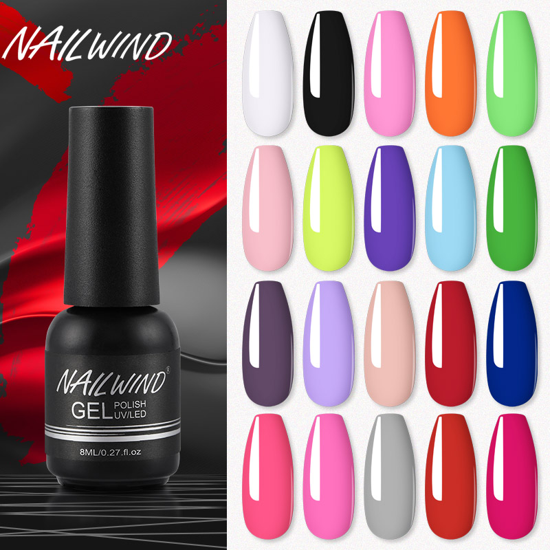 Nailwind Gel Nail Polish Manicure Set UV LED Poly painting gel nail art design Base Top Primer coat rosalind Nail gel Varnishes(China)