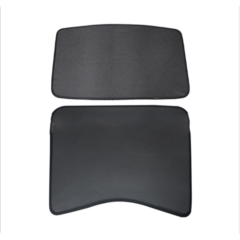 Voor Tesla Model 3 Auto Zonnescherm Glas Dak Zonnescherm Auto Dakraam Blind Shading Netto Uv bescherming Gordijn Mesh - 5