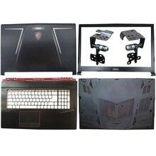 Para msi ge73 ge73vr raider rgb 8re 8rf MS-17C5 portátil lcd capa traseira/moldura dianteira/dobradiças/descanso de mãos/caixa inferior 7 cores