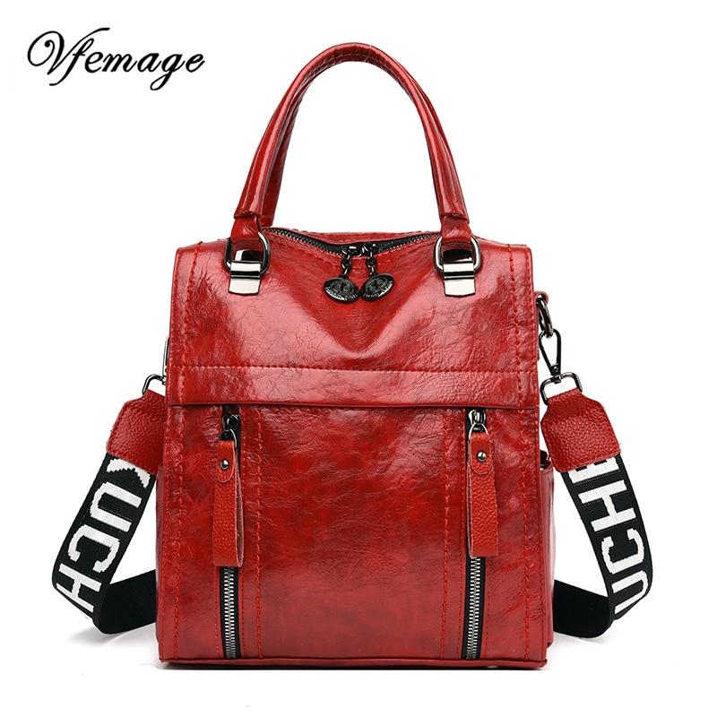 Vfemage Multifunction Handbag Women Bucket Bag Female Shoulder Messenger Bags Ladies Crossbody Luxury Women Bag Bolsa Mujer