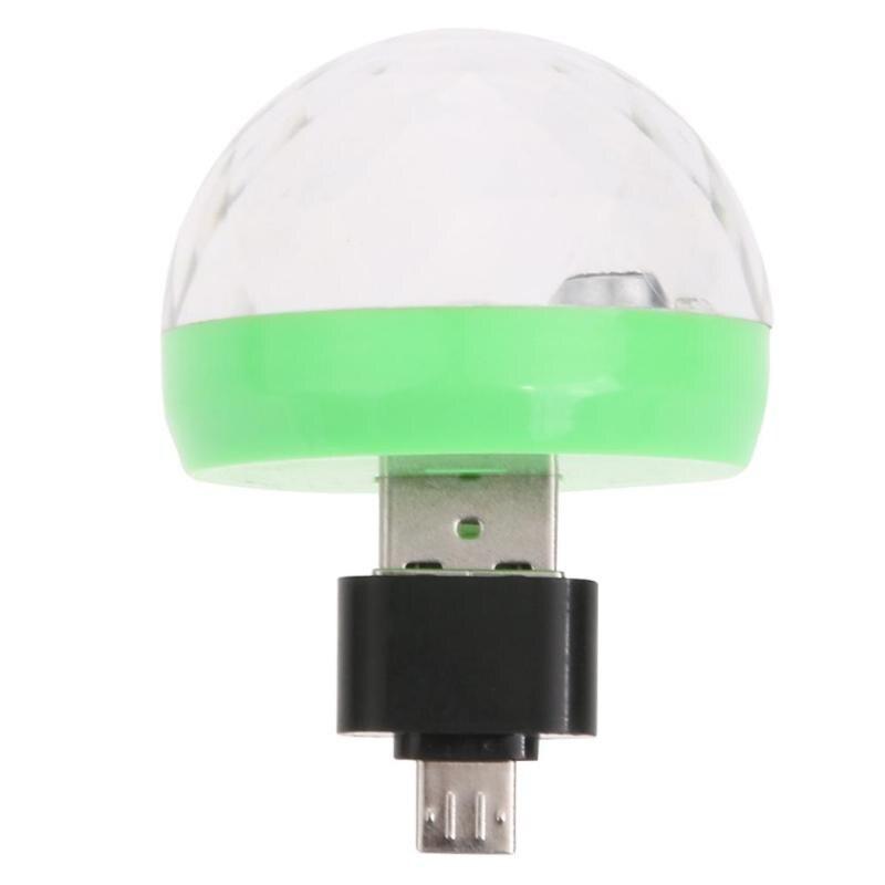 Mini USB Led Party Disco Light Portable Crystal Magic Rotating Ball Home Party Karaoke Decor Colorful Stage LED Christmas Lights