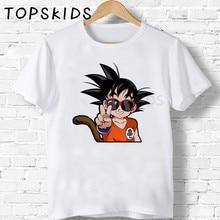 2020 Summer Boys T shirt Dragon Ball Z Cool Son Goku Cartoon Kids T-shirts Anime Children Tops Funny Baby Girls Clothes,HKP5070 men women t shirts cartoon 3d dragon ball z geometric saiyan goku kid graphic tees white anime tee tops unisex t shirt