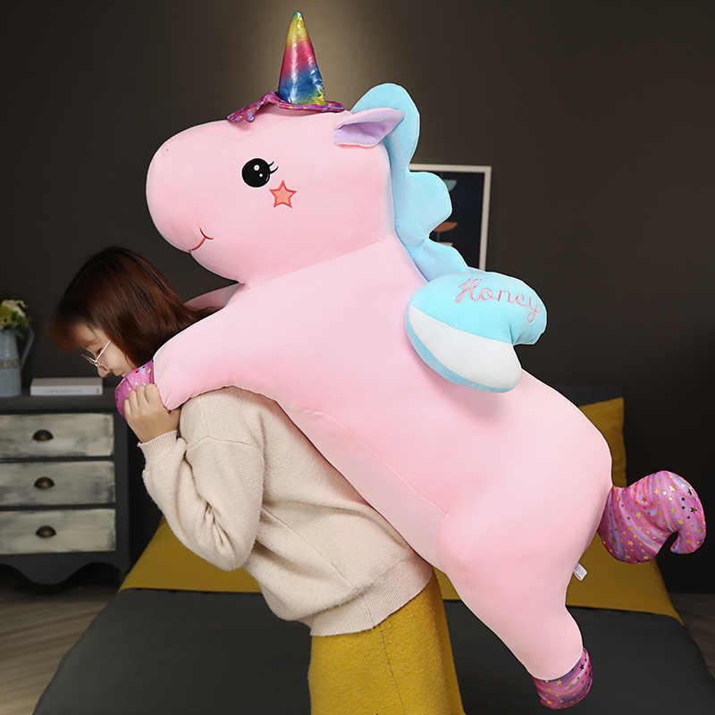 KUY Hot 2020 Новая мягкая плюшевая игрушка в виде радуги Kawaii, единорог, гигантская плюшевая игрушка в виде животных, игрушечная лошадка для детей, подарок для девочек