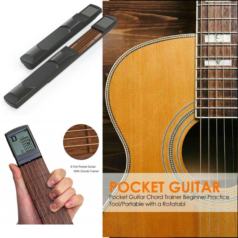 Digital Handy Guitar Chord Trainer Practice Tool Rotatable Screen for Beginner Music Teaching Tools