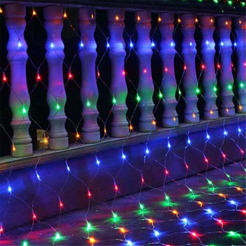 1,5x1,5 м 3x2 м светодиодный сетчатый Сказочный светильник, гирлянда, оконная занавеска, Рождественский Сказочный светильник, светильник для