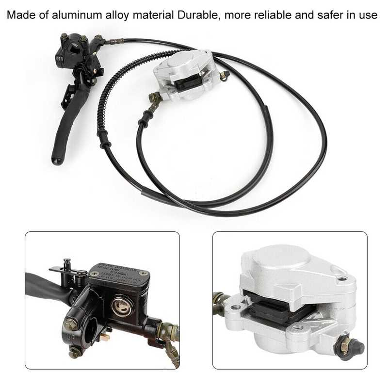 Hydraulische Disc Achter Remklauw Systeem + Pads voor Quad Dirt Bike ATV 150Cc 250Cc