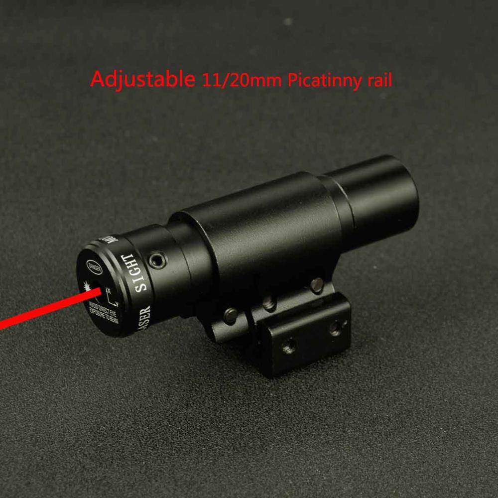 Taktik kırmızı nokta lazer silah nişan dürbünü için hava tabancası tüfek Weaver ayarlanabilir 11/20mm Picatinny raylar dağı ray Airsoft avcılık