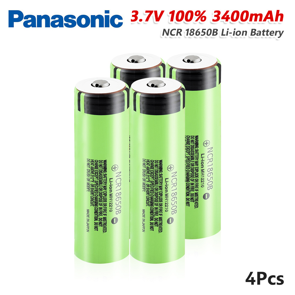 Original <font><b>Panasonic</b></font> <font><b>18650</b></font> <font><b>NCR18650B</b></font> 3400mah Rechargeable Lithium battery 3.7V Discharge Current 20A For LED Flashlight batteries image