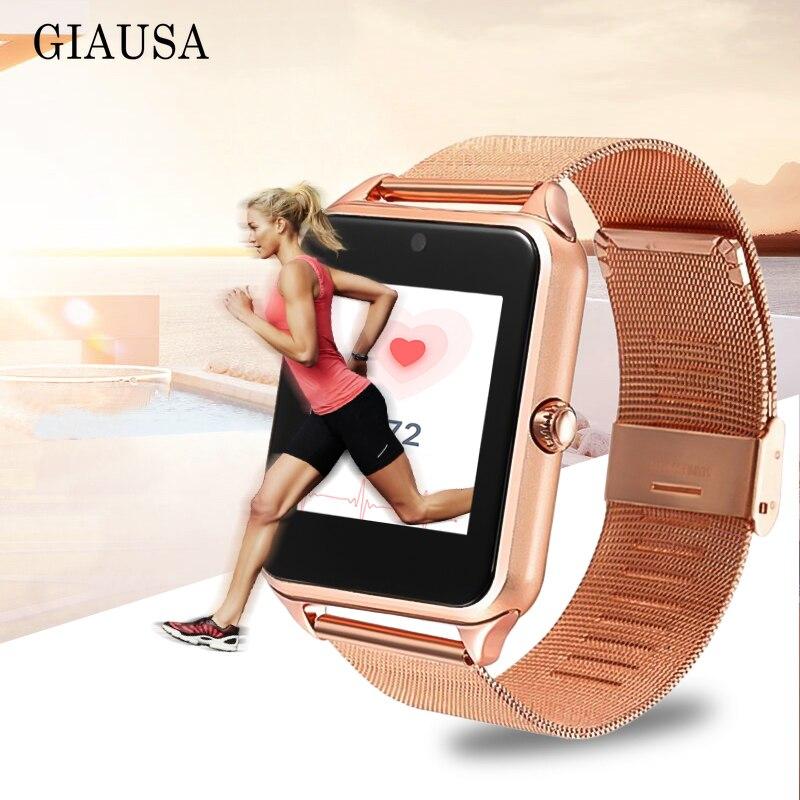 GT08 Além De Metal Cinta smart watch smart watch Z60 ios Do Bluetooth Relógio de Pulso Smartwatch Sim Suporte Cartão TF Android pk Q9 Z6 s7