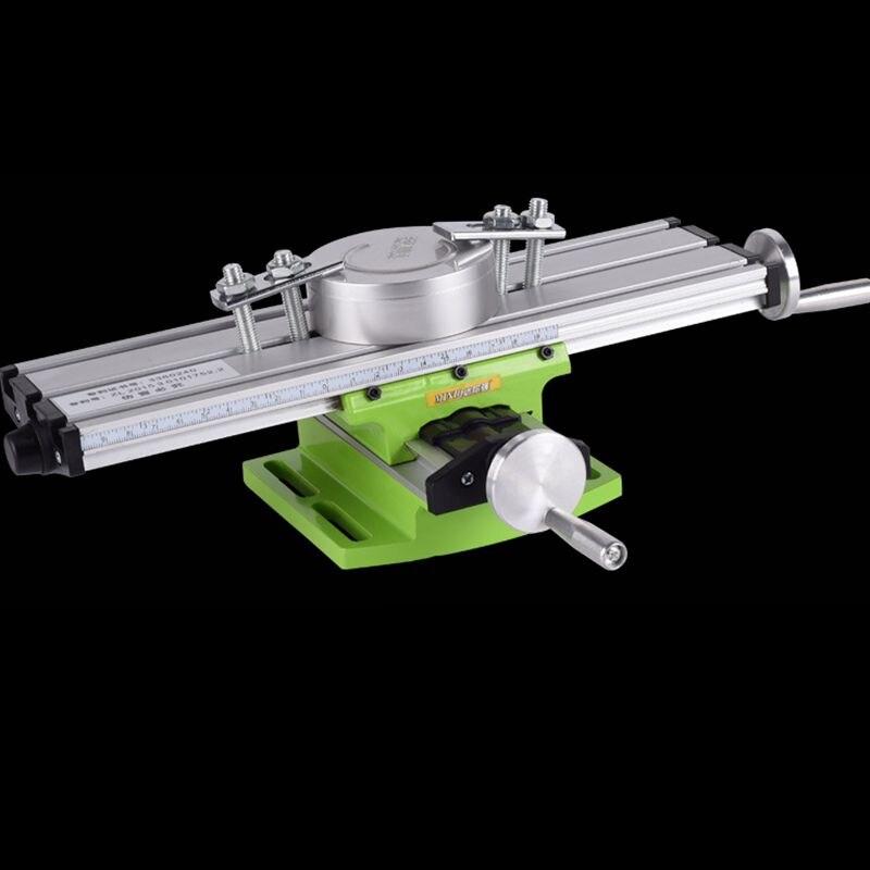 Mini Präzision Multifunktions Arbeitstisch BG6300 Schraubstock Leuchte Bohrer Fräsen Maschine X und Y-achse Einstellung Koordinieren Tisch