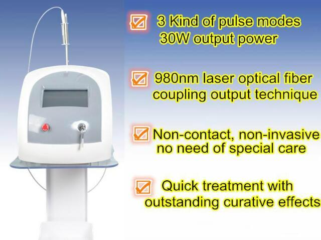 New Arrival!!!  Beauty Equipment 980nm Diode Laser Vascular Removal Machine Spider Vein Machine Blood Vessels