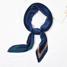 Pleated-Scarfs Towel Foulard Neckerchief Square New-Design Ladies Good-Quality Printed
