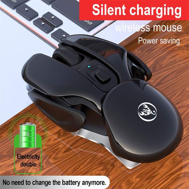 Rechargeable Mouse 2.4G Wireless Metal Noiseless Silent Click Mouse Optical Ergonomic Gaming Mouse PC Computer Mice g35 4