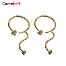 Carvejewl Hyperbole big stud earrings crystal rhinestone gourd shape unique fashion acrylic pearl earring for women girl jewelry