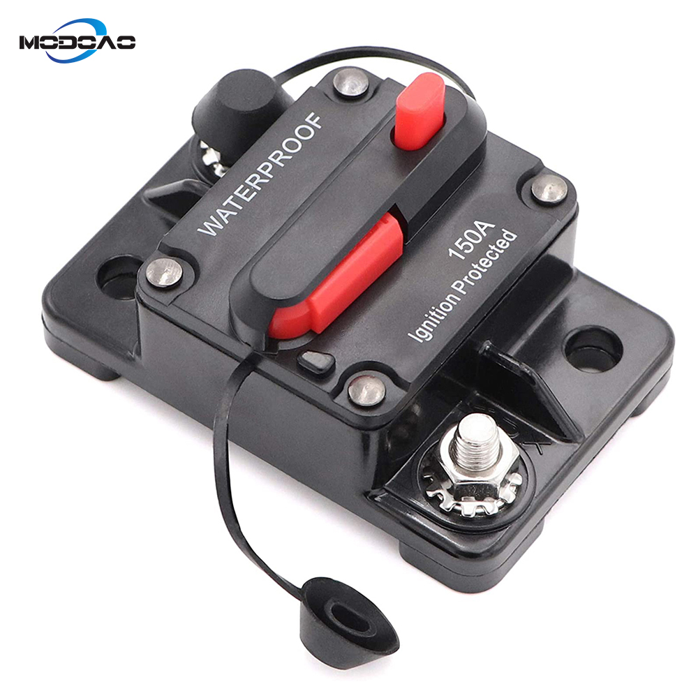 30A 40A 50A 60A 70A Automotive Marine Circuit Breaker with Manual Reset Surface-Mount for Trolling Boat Motor Battery Thermal