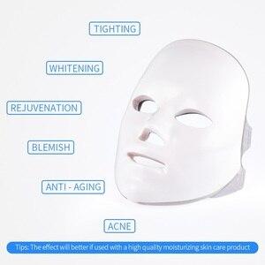 Image 5 - 7 Colors Light LED Facial Mask Skin Rejuvenation LED Mask Phototherapy Face Care Beauty Anti Acne Whitening Wrinkle Removal Mask