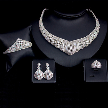 4PCS Big Luxury  AAA Cubic zirconia Set 4