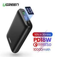Ugreen 10000mAh Banco de la energía de carga rápida 4,0 3,0 QC3.0 de batería móvil externo rápido de cargador para iPhone 11 8 Xs Mini Powerbank