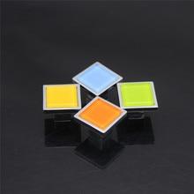 4 Pcs/Lot Crystal Glass Handle Wardrobe Drawer Cabinet Door Modern Simple American Zinc Alloy Color Square Single Hole стоимость