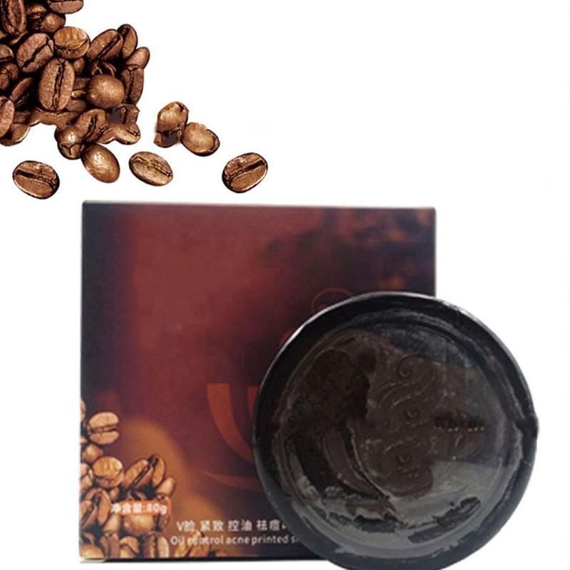 Coffee Soap Handmade Soap Deep Cleansing Black Soap Control Oil Moisturizing Lifting Firming Face Washing Soap
