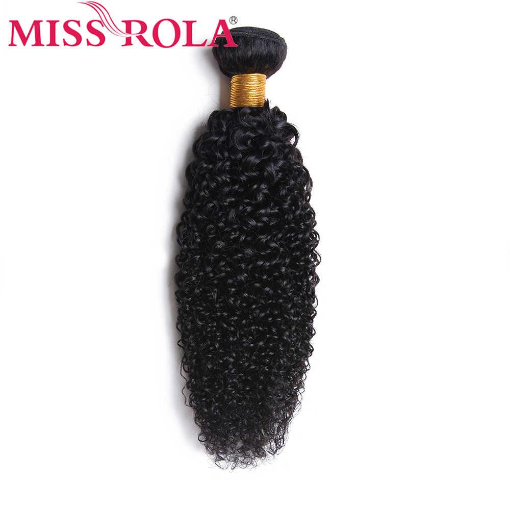 Miss Rola cabello malasio rizado cabello ondulado mechones 8-26 pulgadas 100% cabello humano 3 uds extensiones de cabello no Remy Color Natural