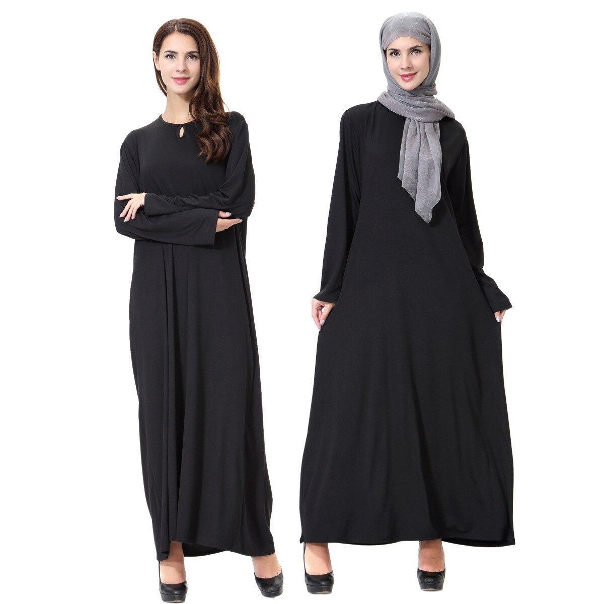 Ramadan Muslim Abaya Dress Women Dubai Black Loose Maxi Hijab Vestidos Robe Turkey Moroccan Kaftan Tunic Prayer Islamic Clothing