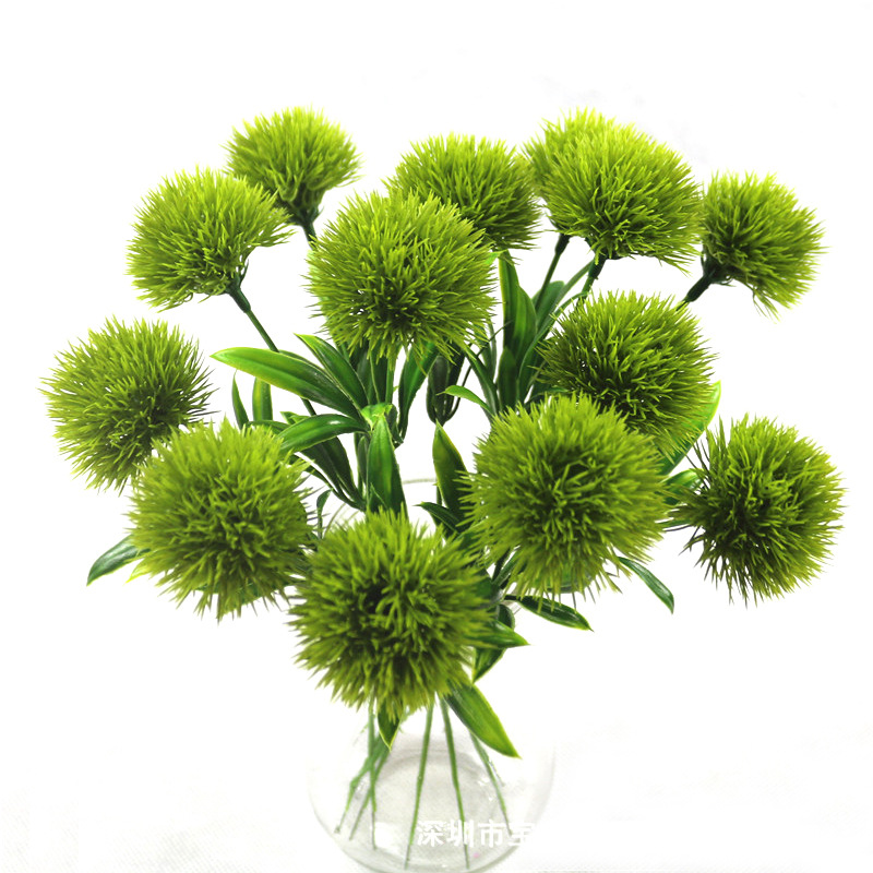 1PC Artificial Flowers Real Touch Green Dandelion Fake Plants Plastic Flowers Home Decoration