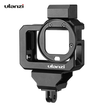 ulanzi G8 5 Action Camera Video Cage for GoPro Hero 8 Black Vlog Case Housing Aluminum Alloy with Dual Cold Shoe Mount Adapter
