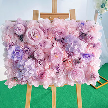 40X60CM Artificial Hydrangea Peony Rose Flower Wall Party Wedding Arch Background Wall Decoration Home Balcony Hanging Layout(China)