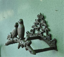 Cast Iron Birds Hose Pipe Reel Rope Holder Vintage Garden Hanger Yard Patio Lawn Wall Mounted Organizer Rust Free Ship