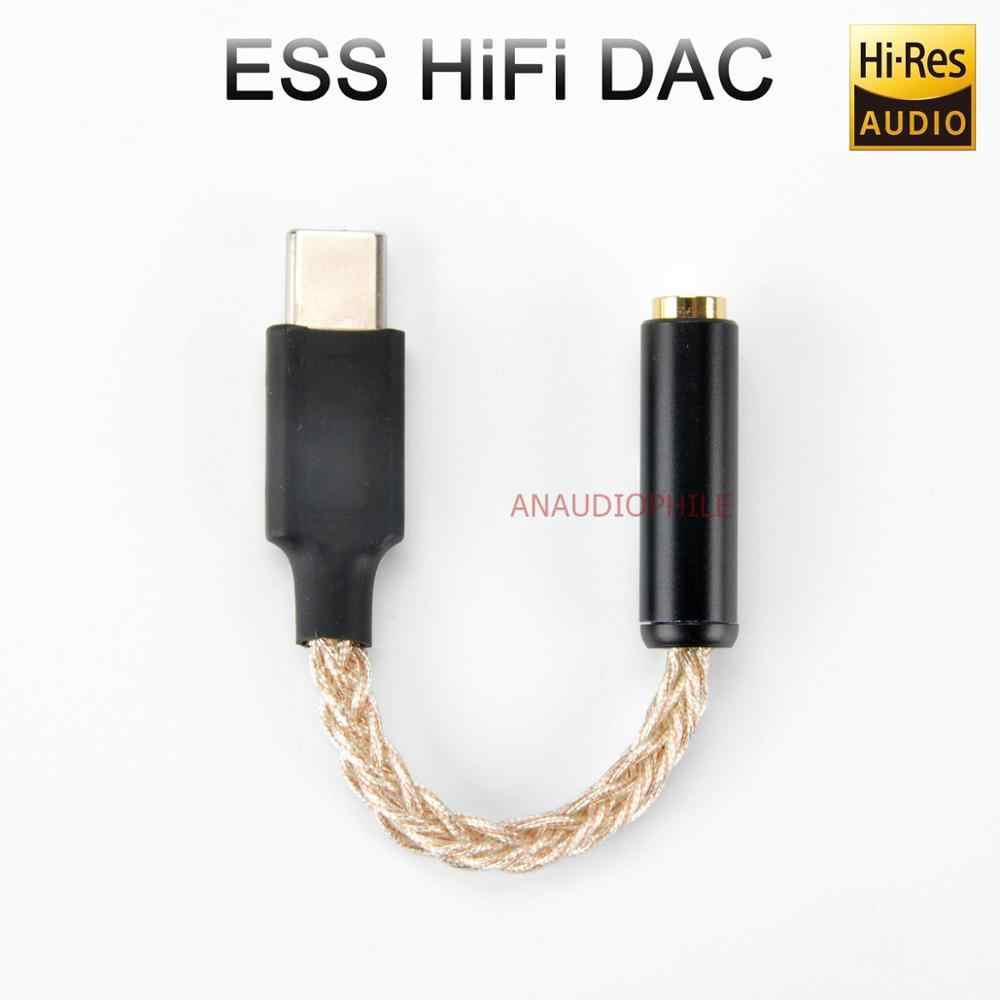 Utimate ESS USB DAC rodzaj USB C DSD DAC DSD128 32bit 384Khz HiFi USB DAC na telefon komórkowy