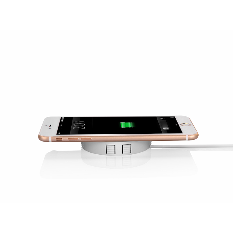 QI Invisible Wireless Charger Table Charging Pad Furniture Table Embedded For IPhone11 Xiaomi Easy Installation Super Long Cable 4