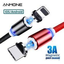 Tipo de cabo magnético c micro cabo usb para o telefone android usb c carga rápida universal ímã cabo de carregamento para iphone fio rápido