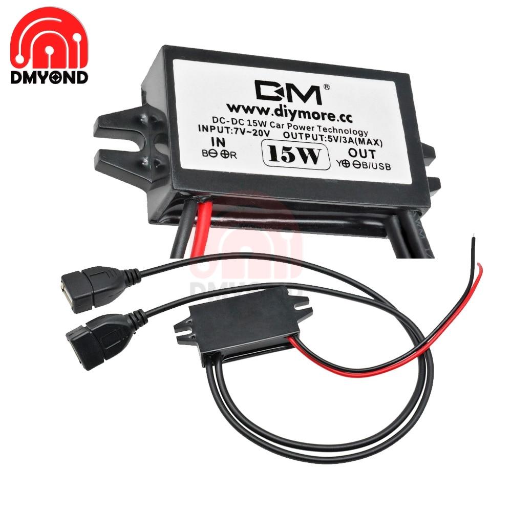 Dc-Dc 12v a 5v 3a Convertidor De Voltaje Micro Usb Reductor De Voltaje Para El Convertidor De Voltaje Del Coche